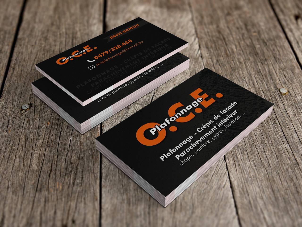 OCE Plafonnage Cartes De Visite