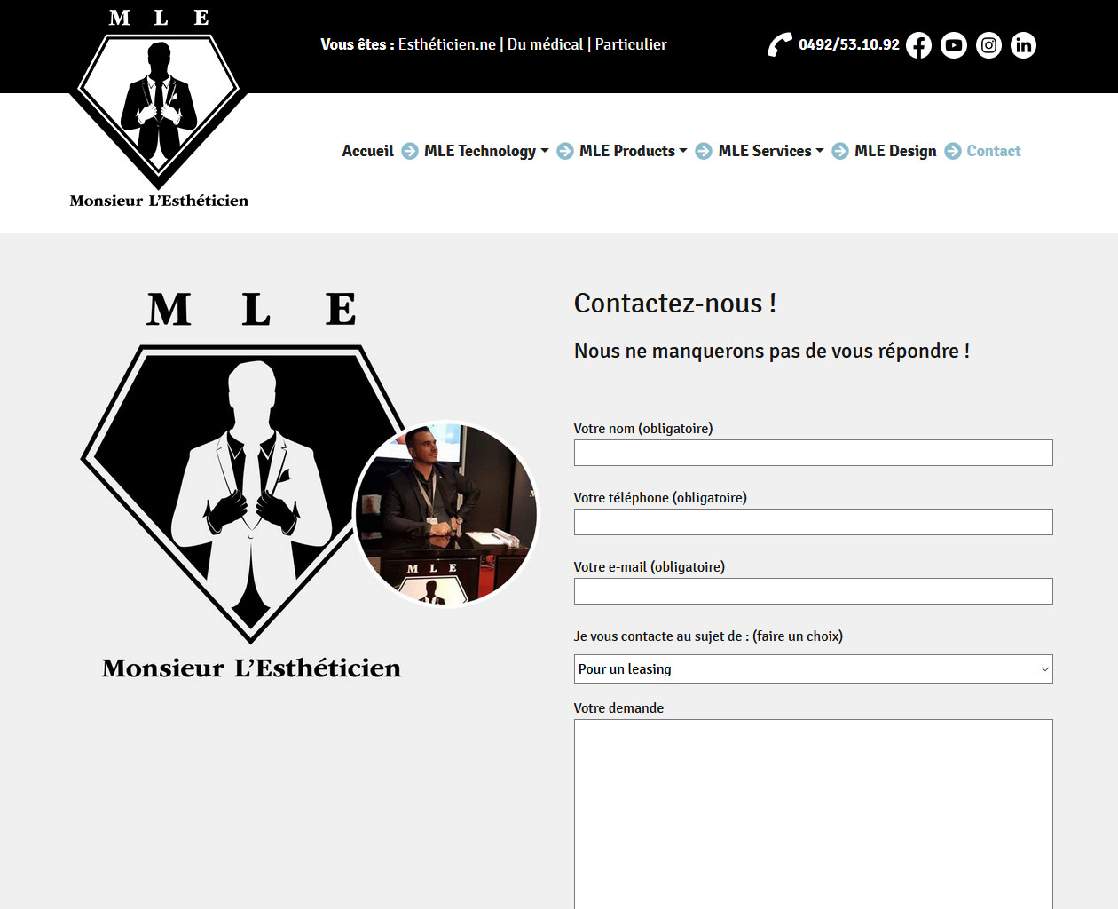 Mr L'Estheticien - MLE Products